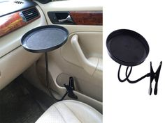 New Car Auto Clip Mount Holder Drink Coffee Cup Table Stand Tray Black | eBay