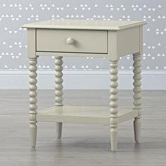 Jenny Lind Light Grey Nightstand