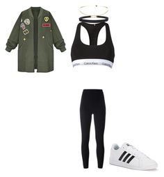 """Untitled #87"" by avakitchen on Polyvore featuring WithChic, Calvin Klein, adidas Originals, adidas and Humble Chic"