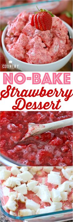 No-Bake Strawberry Dessert recipe from The Country Cook