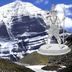 Shiva is the primordial deity who evolved to combine the traits of the terrible Aryan god Rudra and the more genteel Pashupati of the Harappans. This is a depiction of Rudra on the backdrop of his traditional abode, Mount Kailash. (Image credit Bhatta Som) Kailash Mansarovar, Aryan Race, World Mythology, Kumbh Mela, Om Namah Shivay, Spiritual Enlightenment, Lord Shiva, Tibet, Deities