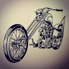 #motorcycles #illustration #lifestyle #chopper