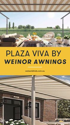 Make use of your patio regardless of the weather with Plaza Viva by Weinor awnings. Bringing you German engineering at it's best, with compact design, quiet and smooth operation, and pleasing, easy on the eye aesthetics, these Awnings are also incredibly wind-resistant and adapts to any house facade.  #CustomAwnings #WeinorPlazaVivaAwnings #CanberraPatioWindowTreatment Modern Window Coverings, Kitchen Window Coverings, Modern Window Treatments, Office Curtains, Bay Window Curtains, Room Window, Contemporary Windows, Modern Windows, Custom Made Curtains