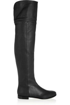 Jimmy Choo Mitty textured-leather over-the-knee boots | NET-A-PORTER