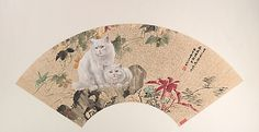 Cao Kejia (Chinese, 1906–1977). Two Cats, 20th century. China. The Metropolitan Museum of Art, New York. Gift of Robert Hatfield Ellsworth, in memory of La Ferne Hatfield Ellsworth, 1986 (1986.267.336) #cats