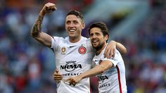 neville and Andru - celebrate in Melbourne (WSW - Western Sydney Wanderers)