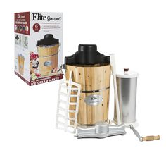 Elite Gourmet EIM-506 Maxi-Matic 6 Quart Old Fashioned Pine Bucket Electric/Manual Ice Cream Maker *** This is an Amazon Affiliate link. Learn more by visiting the image link.