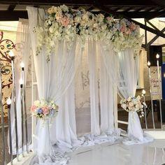 8 Beautiful Home Decor Wall hanging Ideas ! Wedding Draping, Diy Wedding, Wedding Events, Dream Wedding, Wedding Mandap, Wedding Receptions, Church Wedding Decorations, Backdrop Decorations, Backdrops