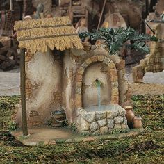 Fontanini Nativity Resin / PVC Wall Fountain With Water Pump Christmas Nativity Scene, Christmas Figurines, Christmas Villages, Christmas Crafts, Christmas Decorations, Fontanini Nativity, Ceramic Houses, Dollhouse Miniatures, Fountain