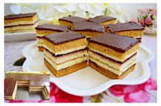Karamelové rezy TV - Mňamky-Recepty.sk Romanian Desserts, Romanian Food, Sweets Recipes, Cake Recipes, Cooking Recipes, Oreo Desserts, Hungarian Recipes, Food Cakes, Cake Cookies