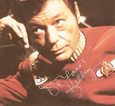 A personal favorite from my Etsy shop https://www.etsy.com/listing/549240565/star-trek-autograph-deforest-kelley