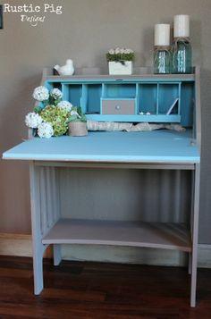 Annie Sloan Coco Antique Secretary Desk