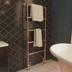 New Bathroom Ideas, Bathroom Inspiration, Bath Ideas, Towel Rack Bathroom, Bathroom Storage, Bathroom Radiators, Towel Radiator, Heated Towel Rail, Moving House