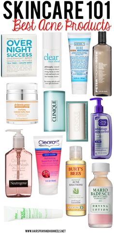 Look no further! The Best Acne Products are right here on this list! #skincare #beauty #acnescars