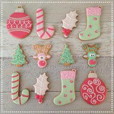 Christmas pastel cookies