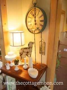 Lamb and aqua clock