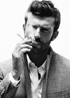 B/W. Smoking.