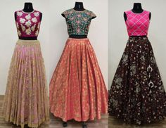 Designer Long Skirts and Crop Tops by Ashwini Reddy photo