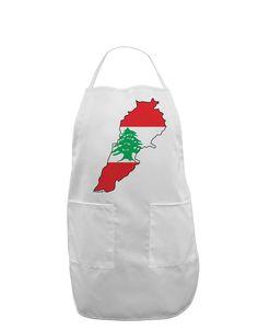 TooLoud Lebanon Flag Silhouette Adult Apron