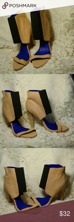 "JEFFREY CAMPBELL FREE PEOPLE TREZEBELL STILETTOS ANKLE GUSSETED WRAP,  OPEN TOE, 4.5"" HEEL,  8"" SHAFT,  CUTE, CUTE, CUTE,  GREAT PRE-LOVED CONDITION JEFFREY CAMPBELL FREE PEOPLE  Shoes Heels"
