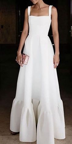 Pleated Dress Pleated Dress,Style Commuting Bare Back Pleated Dress Related posts:Ananya Pandey ÇR❕GR❕ - tik tokaddison rae( Official White Dress Outfit, Casual Dress Outfits, The Dress, Evening Dresses, Summer Dresses, Little White Dresses, Costume, Everyday Outfits, Dress Patterns