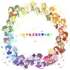 Anime Chibi, Anime Art, Tsukiuta The Animation, Comedy Anime, Ensemble Stars, Bungo Stray Dogs, Touken Ranbu, Hetalia, My Idol