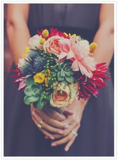 Lovely bouquet with succulents