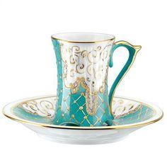 Kütahya Porselen Yağmur Turkuaz Kahve Fincanı