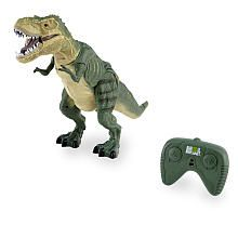 """Take your favorite dinosaur out of extinction and into your home with the Animal Planet Radio Control Ravenous T-Rex, a Toys""""R""""Us exclusive. The realistic details and genuine roars will take you back to when dinosaurs ruled the earth! Made from durable plastic, this terrible lizard is perfect for imaginary play and walks forward, left and right. He stands a magnificent 20 inches, towering over the lesser creatures of his prehistoric realm.<br><br>The Animal Planet Radio ..."""