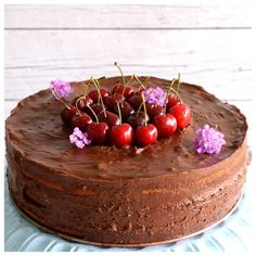 Chocolate Mousse Cake, Serving Bowls, Cherry, Sweets, Fruit, Tableware, Desserts, Recipes, Food