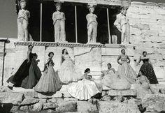 Christian Dior. Caryatids. Ελλαδα. Greece. 1951. Amazing