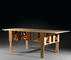 Enzo MARI (Né en 1932) Table C - création 1974 Pin naturel