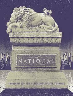 the national gig poster - Google Search