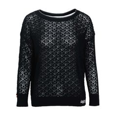 LACE STITCH CREW LONG-SLEEVED TOP - SUPERDRY - Brands
