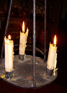 Candles:  Early hanging #candle lighting.