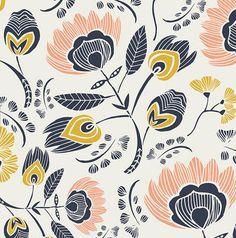 Floral Crib Sheet - Leah Duncan Bedding / Standard or Mini Crib Sheets / Nursery Baby Bedding