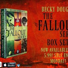 #LimitedTime #Limited #Sale #Bargain  @CleanTeenPub is having a sale! The COMPLETE Fallout series by @beckysdoughty  is on sale for just  72 HOURS for $5.99!!!!! Sale ends Monday, so be sure to #OneClick this awesome #YA series while you still can! #IndiePub #Indie #IndieLove #Publishing #CleanTeenPublishing #Teen #YA #Series #YalitLove #Bookstagram #Bookish #BookLove #Cheap #Sunday #SundayFunday #BookNerd #Boho #Fallout #TheFolloutSeries #Graphic #GraphicDesign #Teaser #Promo #Promotion