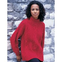 Cabled Raglan- free pattern for this classic cabled pullover.