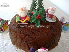 ΧΡΙΣΤΟΥΓΕΝΝΙΑΤΙΚΗ ΠΟΥΤΙΓΚΑ Christmas Pudding, Spirit, Sweets, Cake, Desserts, Food, Tailgate Desserts, Deserts, Goodies