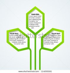 Abstract nature template with stylized hexagon leaves. Vector illustration. by Turbo Vector, via ShutterStock