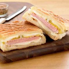 Cuban-Inspired Pressed Cheese Sandwich from Land O'Lakes