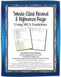 MLA Works Cited Sources Page for Students $