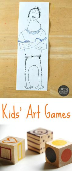 Kids Art Games - More than 12  art games for children that are fun to play and encourage creativity. Some are great for one-on-one and some are great for groups.