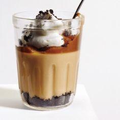 White Chocolate-Mint Pots de Crème with Candy Cane Brittle Recipe - Bon Appétit