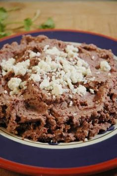 Refried Beans- Authentic Mexican Recipe ~~~In Mexico, cooks traditionally fry their beans in homemade pork lard, which yields a wonderful flavor