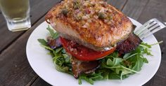 Barbells and Bellinis: Salmon BLT Stacks with Lemon Caper Vinaigrette
