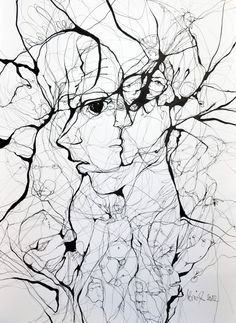 A Web of Abstract Drawings by Boicu Marinela - Boicu Marinela illustration drawing erotic portrait - Abstract Drawings, Ink Pen Drawings, Street Art, Illusion Art, Wow Art, Art Plastique, Amazing Art, Awesome, Saatchi Art