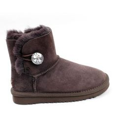 UGG Kids Mini Bailey Button Bling Boots Chocolate Online Sale Kids Ugg Boots, Ugg Kids, Mini Baileys, Boot Bling, Uggs, Chocolate, Shoes, Button, Women