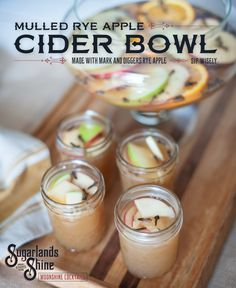 This cider bowl is the perfect fall cocktail for a bonfire or a chilly night on the porch!