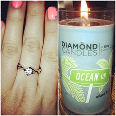 Diamond Candles!  OCEAN DRIVE IS WHERE I WOULD LOVE TO LIVE
